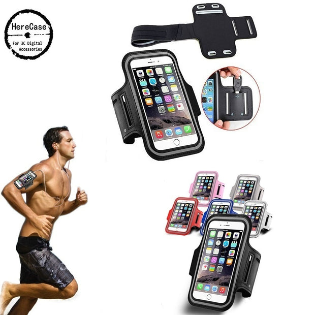HereCase Waterproof Sports Running Arm Band Phone Case For Samsung Galaxy S8 S7 S6 Plus Edge For Iphone 6 7 8 X 5 Xiaomi 8 6