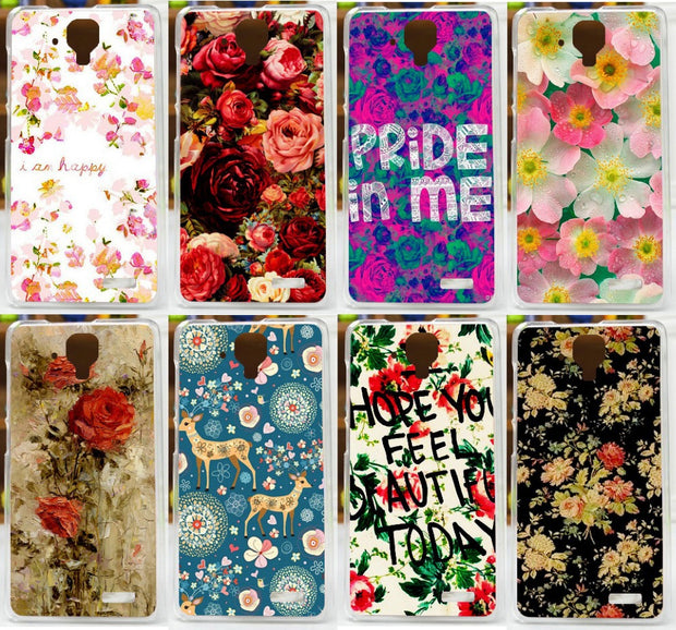 High Quality 11 Patterns Beautiful Flowers Case For Lenovo A536 A358T /diy Hard Protector Case Cover For Lenovo A358T Cases