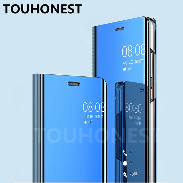 size 40 fa057 a3113 Honor 10 Mirror Clear View Flip Cover For Huawei Mate 10 Lite Case For  Huawei P20 Pro P10 Plus P8 Honor 9 Lite 8 P Smart V10 7C