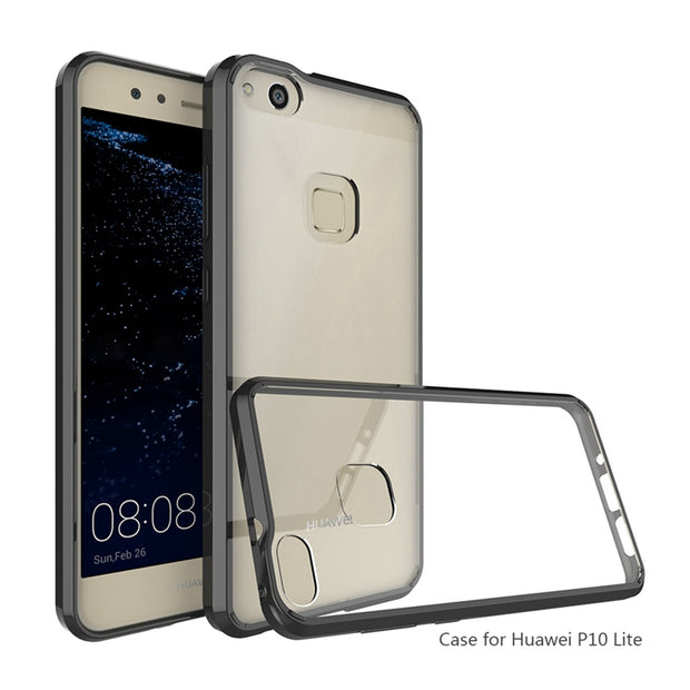 Hot Armor Case Hybrid TPU Frame Clear Back Cover Air Cushion Tech Shockproof Shell Protective Coque For Huawei P10 Lite P10Lite