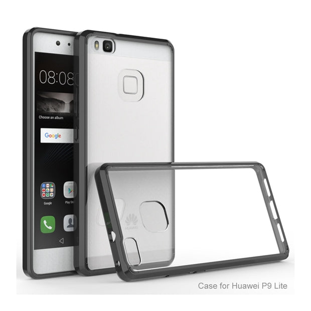 Hot Armor Case Hybrid TPU Frame Clear Back Cover Air Cushion Tech Shockproof Shell Protective Coque For Huawei P9 Lite P9Lite