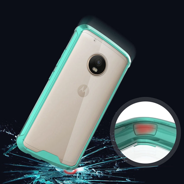 Hot Crystal Clear Back Cover For Motorola Moto G5 Hybrid Shockproof Air Cushion Case Protection Fundas Coque For Moto G5 Plus