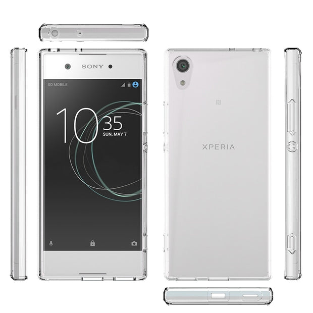 "Hot Hybrid Shockproof Cover Air Cushion Frame Case With Acrylic Crystal Clear Back Shell For Sony Xperia XA1 5.0"" Fundas Coque"