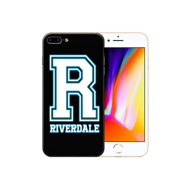 Hot TV Series Riverdale Phone Case Printed Soft Frame Hard Back IPhone Cases For IPhone X 8 7 6 6S Plus Phone Back Cover