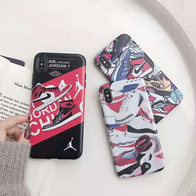 Hot Sports Brand Air Jordan Shoes Case For IPhone X Xr Xs Max 6 6s 7 8 Plus Scrub Soft Silicone Shooting Ball Phone Cover Cases