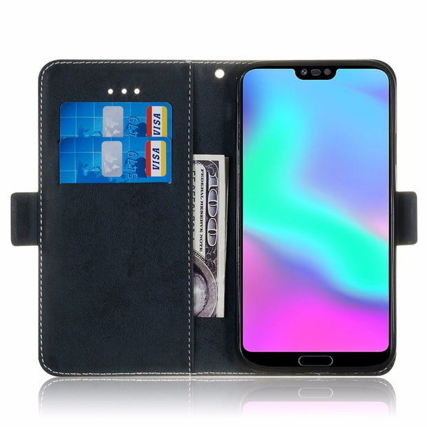 Huawei Honor 10 Phone Case Etui On For Fundas Huawei Honor10 Cases Luxury Vintage Flip Wallet Leather Stand Back Cover Coque