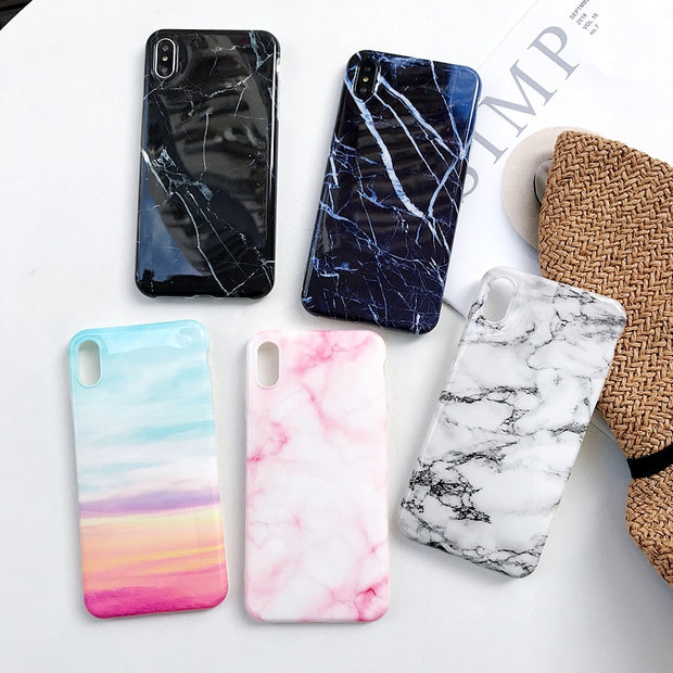Huawei Honor 7A Pro Marble Phone Case Etui On For Huawei Y6 Prime 2018 Capa AUM-L41 5.7 Inch Luxury Silicone Soft Cover Coque
