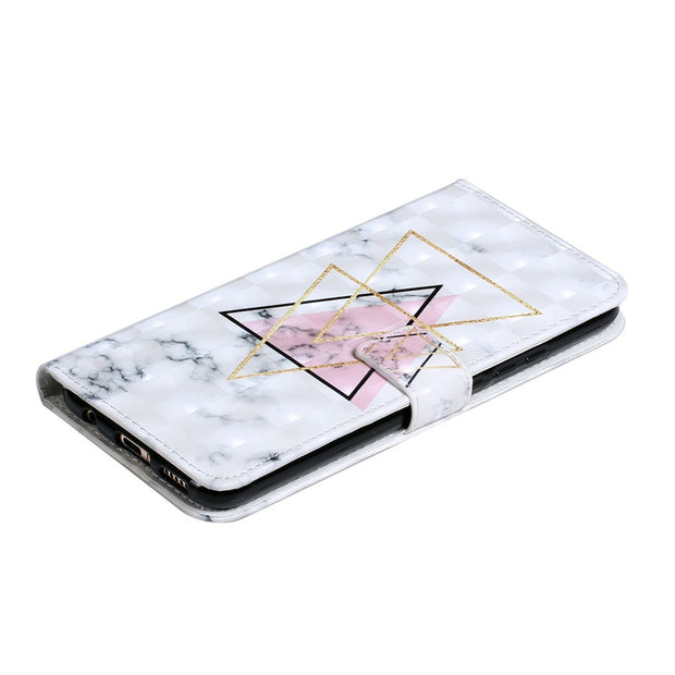 Huawei Mate 20 Lite 3D Marble Case Etui On For Fundas Huawei Mate 20 20 Pro Case Flip Wallet Leather Stand Back Cover Coque