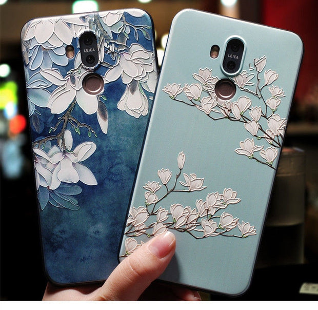 Huawei Mate 20 Lite Case Silicone,3d Relief Luxury Soft Tpu Case For Huawei Mate 20 Lite ,mate 10 Lite Mate9 10 P20 Cover