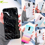 Huawei Mate 20 Lite Marble Phone Case Etui On For Huawei Mate20 Pro Case Capa Fashion Luxury Silicone Soft Cover Cases Coque