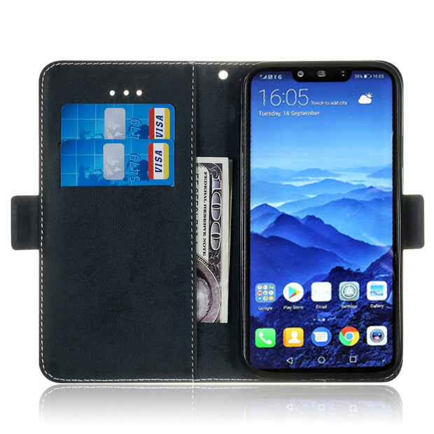 Huawei Mate 20 Lite Phone Case Etui On For Fundas Huawei Mate20 20 Pro Luxury Vintage Flip Wallet Leather Stand Back Cover Coque