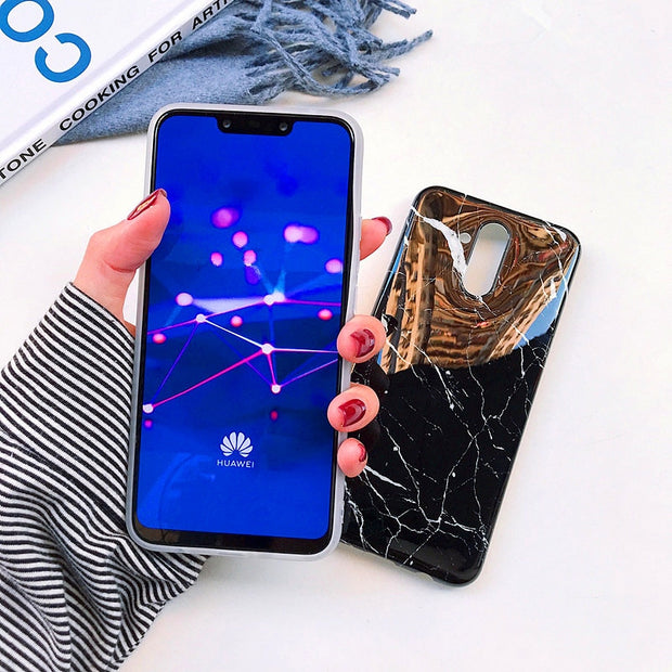 Huawei P20 Lite Marble Phone Case Etui On For Huawei P20 20 Pro Capa Nova 3e 5.84 Fashion Luxury Silicone Soft Cover Cases Coque