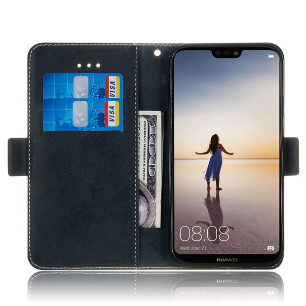 Huawei P20 Lite Nova 3e Phone Case Etui On For Fundas Huawei P20 Pro Luxury Vintage Flip Wallet Leather Stand Back Cover Coque