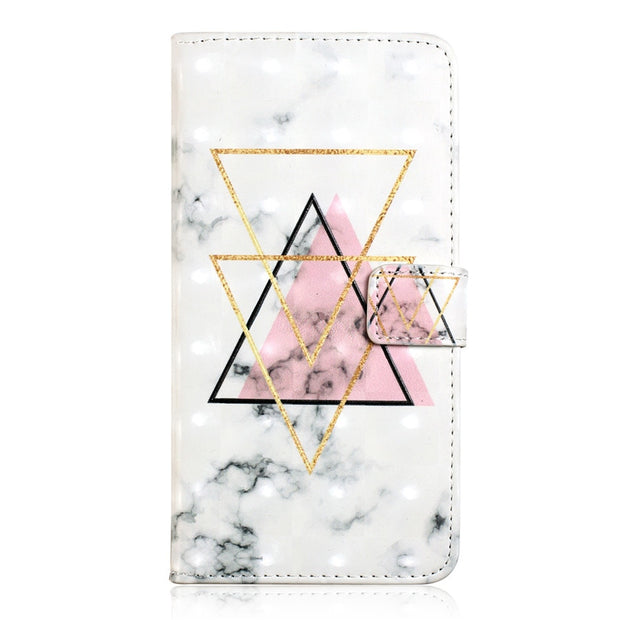 Huawei P8 Lite 2017 3D Marble Case Etui On For Fundas Huawei Honor 8 Lite Case Flip Wallet Leather Stand Back Cover Coque
