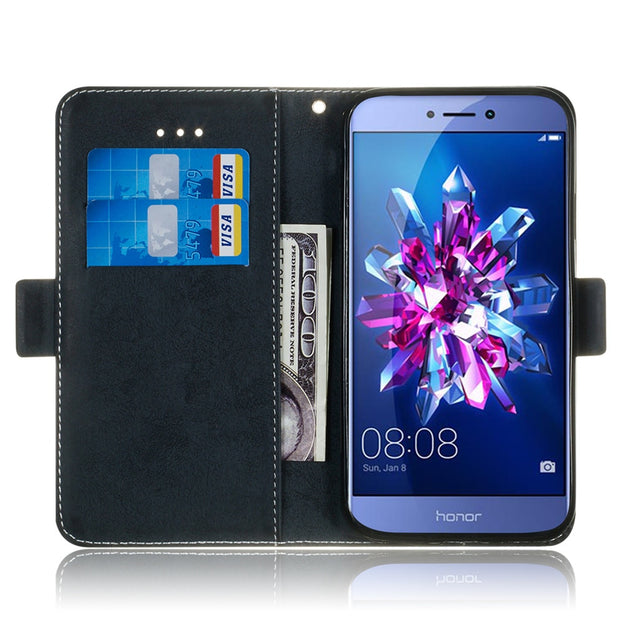 Huawei P8 Lite 2017 Phone Case Etui On For Fundas Huawei Honor 8 Lite Luxury Vintage Flip Wallet Leather Stand Back Cover Coque
