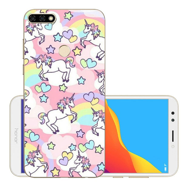 Huawei Y7 Prime 2018 Case Cover Soft Silicone TPU Phone Y7