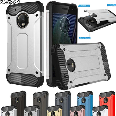 Hybrid Shockproof Dual Layer Armor Case Cover For Motorola Moto G5 G5S G5 Plus Defender Protective Capa For Moto Z Force Coque