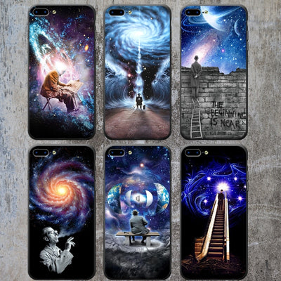 Imaginary Foundation At Space Phone Case Soft Frame Hard Back Planet Star Cover For Apple IPhone X 8 8Plus 7 7Plus 6 6S Plus