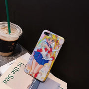 Japan Cartoon Instagram Popular Anime Sailor Moon Soft Cover For Iphone XS MAX Case 6 6S 7 7plus 8 XR Blu-ray Case For Iphone XS