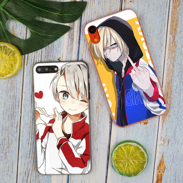Japanese Anime YURI On ICE Hot Fashion Transparent Hard Phone Cover Case For IPhone X XS Max XR 8 7 6 6s Plus 5 SE 5C 4 4S