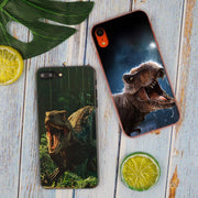 Jurassic Dinosaurs Hot Fashion Transparent Hard Phone Cover Case For IPhone X XS Max XR 8 7 6 6s Plus 5 SE 5C 4 4S