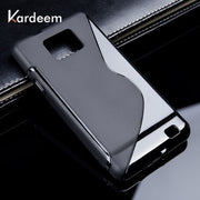 KARDEEM Cases For Samsung S2 S3 S4 S5 S5 S7 Mini S9 S9 Plus S6 S7 Edge Plus Cover Phone Bags Black Color Soft TPU Silicon Skin