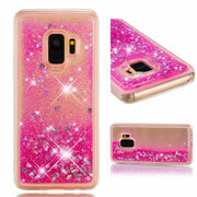 KMUYSL Liquid Case For Samsung Galaxy S8 S9 Plus S6 S7 Edge Glitter Love Silicone Cover For Samsung J1 J5 J7 J3 2016 A8 2018