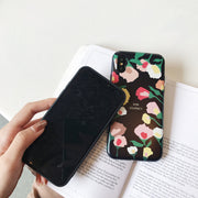 KSTUCNE Retro Flowers Phone Case For IPhone 7 8 Plus XS Max XR Rose Floral Cases For IPhone X 8 7 6 6S Plus Soft TPU Cover
