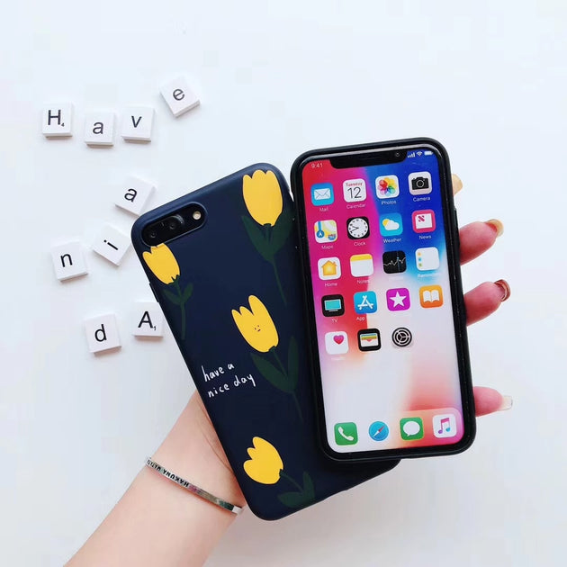 7ce18a77e5 Korean Tulips Phone Case For IPhone 7 8 Plus Small Yellow Flowers Case –  Ferrum Cases