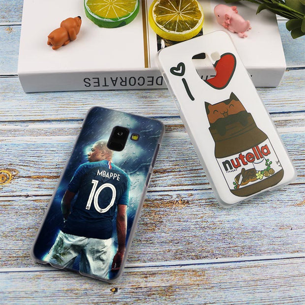 Kylian Mbappe Hot Fashion Transparent Case For Samsung Galaxy A3 A5 A9 A7 A6 A8 Plus 2018 2017 2016 Star A6S Note 9 8 Cover