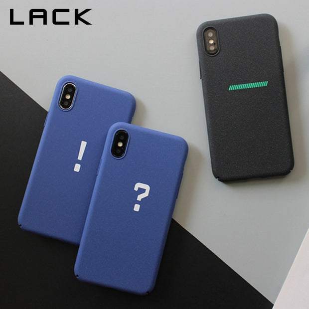 LACK Funny Cartoon Symbol Phone Case For Iphone XS Max X XR 8 7 6 S Plus Back Cover Fashion Matte Hard PC Cases Couples Capa