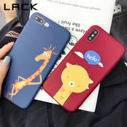 LACK Lovely Cartoon Giraffe Phone Case For Iphone XS Max Case For Iphone XR X 6S 6 7 8 Plus Cover Soft TPU Cases Couples Capa