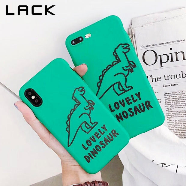 LACK Lovely Dinosaur Phone Case For Iphone X Case For Iphone 6 6S 7 8 Plus  Cover Retro Green Color Cases Soft TPU Cartoon Capa