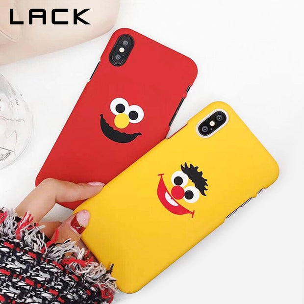 LACK Phone Case For Iphone X Case For Iphone 6S 6 7 8 Plus Cases Fashion Ultra Thin Hard PC Capa Lovely Cartoon Lovers Cover