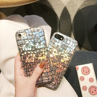 LANCASE Luxury Crocodile Soft Cases For IPhone X Case 8 8 Plus Hoesje Glitter Girly Sexy Cover For IPhone 6 6s Plus Case 7 Plus