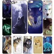 Laumans Classic Cool Wolf Hipster Print Coque Shell Phone Case For Apple IPhone 7 8 Plus 6 6S Plus 5 5S SE 4S X Cover