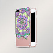 Laumans Flower Mandala Phone Case For IPhone 8 Plus Case Transparent Soft Tpu Phone Case