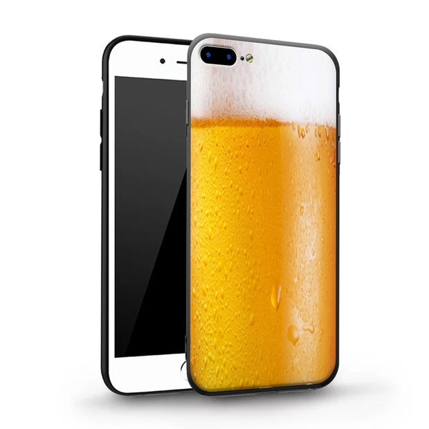 Life Creative Funny Phone Case Soft Frame Hard Back TPU+PC Cover For Apple IPhone X 8 8Plus 7 7Plus 6 6S Plus