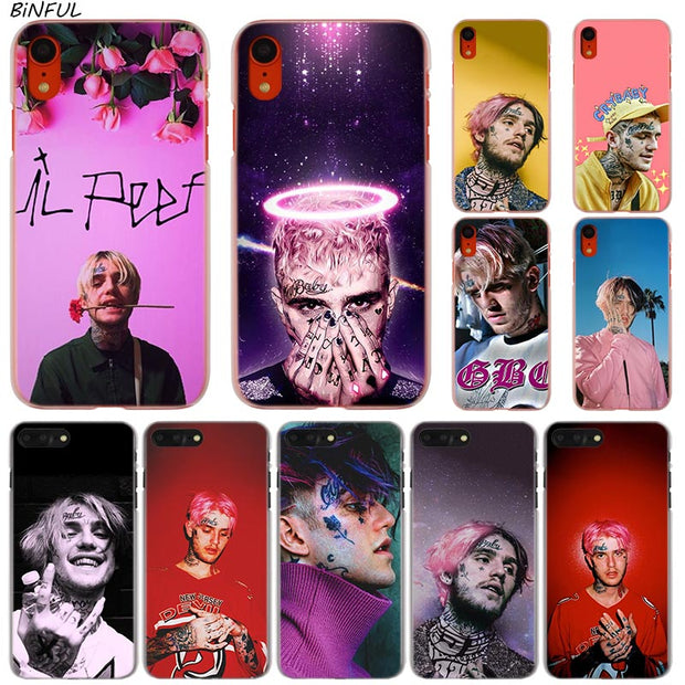 Lil Peep Bo Hot Fashion Transparent Hard Phone Cover Case For IPhone X XS Max XR 8 7 6 6s Plus 5 SE 5C 4 4S