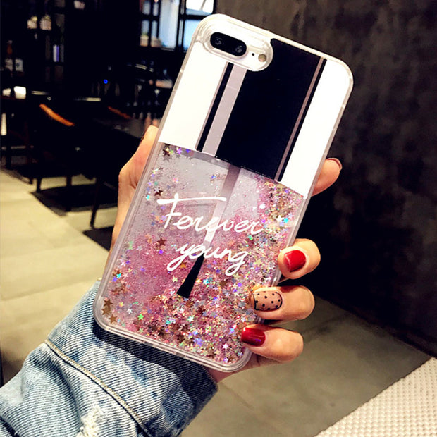Liquid Glitter Case For IPhone 7 8 6 6s Plus Drift Sand Cases For IPhone X 8 7 Cat Perfume Bottle Quicksand Dynamic Cover Coque