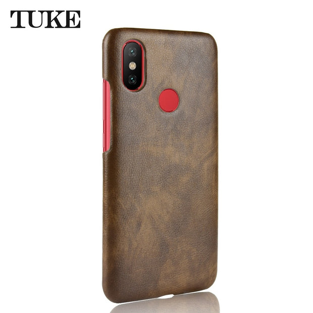 Litchi Pattern PU Leather Case For Xiaomi Mi 6X Luxury Case For Xiaomi Mi 6X Hard Cover Protective Shell