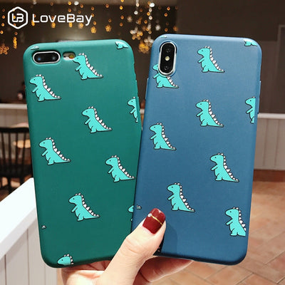 Lovabay Phone Case For IPhone X XR XS Max Dinosaur Pattern For IPhone 6 6s 7 8 Plus Soft TPU Silicone Back Cover For IPhone XR
