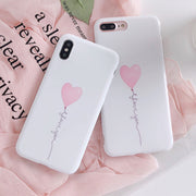 Love Balloon Phone Case For IPhone 7 Plus Case Back Cover For IPhone 8 Coque IPhone 6 6S Plus X Phone Protection Bumper Capa