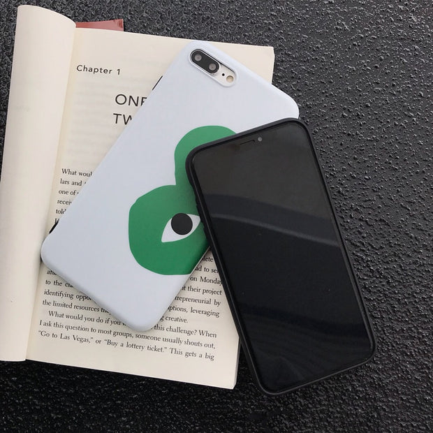 Love CDG Play Comme Des Garcons Soft Silicon Tpu Case For Iphone 6 6S Plus 7 7plus 8 8plus X XR XS Max Phone Cases