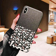 Lovebay Luxury Phone Case For IPhone 6 6S 7 8 Plus X XR XS Max Case Leopard Print Splice Pattern Silicon For IPhone X Phone Case
