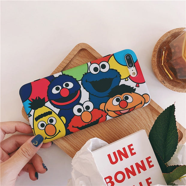 Lovely Cartoon Sesame Street Cookie Elmo Phone Case For IPhone 6 6S