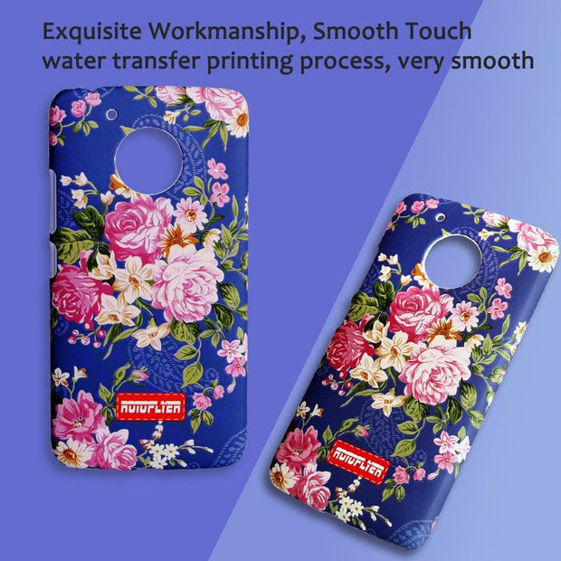 Luminous Case For Motorola Moto G5 Beautiful Flower Pattern Back Cover For Girls Women