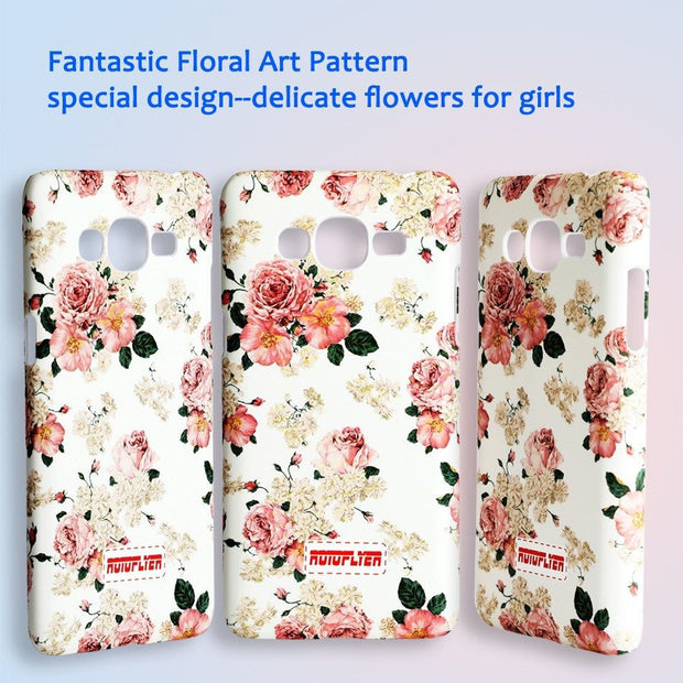 Luminous Case For Samsung Galaxy J2 Prime(SM-G532F/G532G/G532M) Beautiful Flower Pattern Back Cover For Girls Women