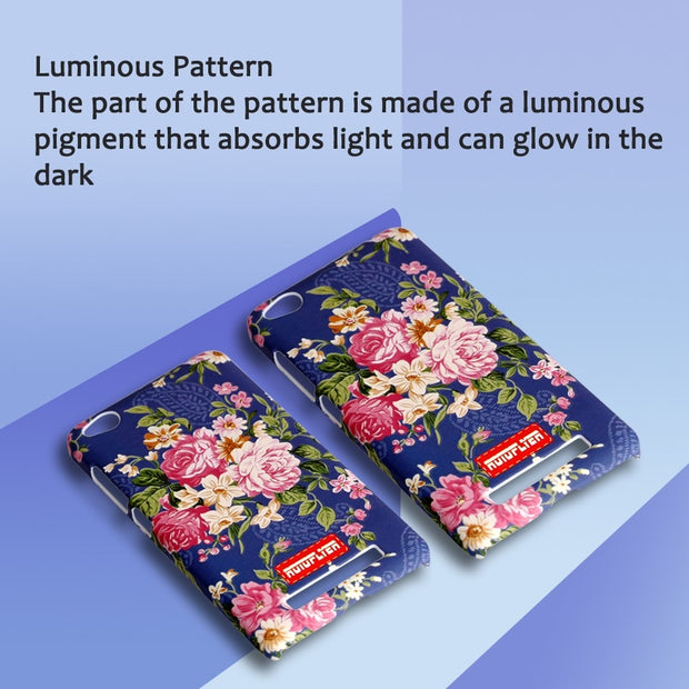 Luminous Case For Xiaomi Redmi 4A Beautiful Flower Pattern Back Cover For Girls Women