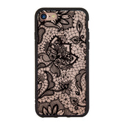 Luxury 2 In 1 Lace Henna Mandala Floral Flower Hard Case Coque Shell Cover For Apple IPhone 6 6S 7 8 Plus X Cases Covers